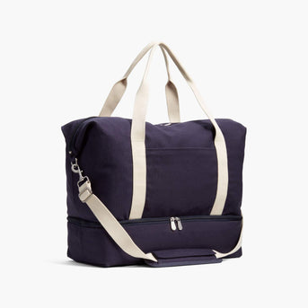 Side - Catalina Deluxe - Organic Canvas - Deep Navy - Weekender - Lo & Sons