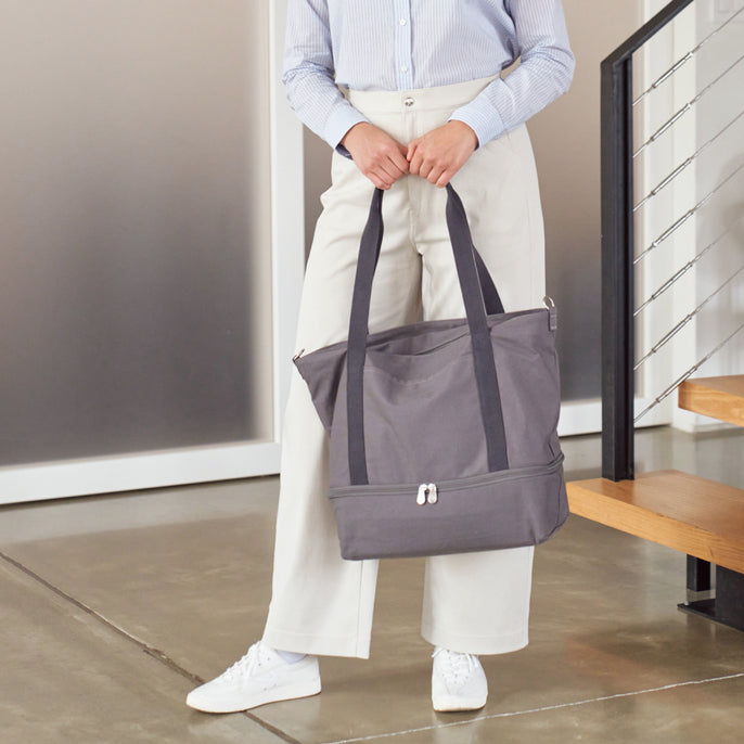 The Catalina Deluxe Tote - Organic Canvas - Grey
