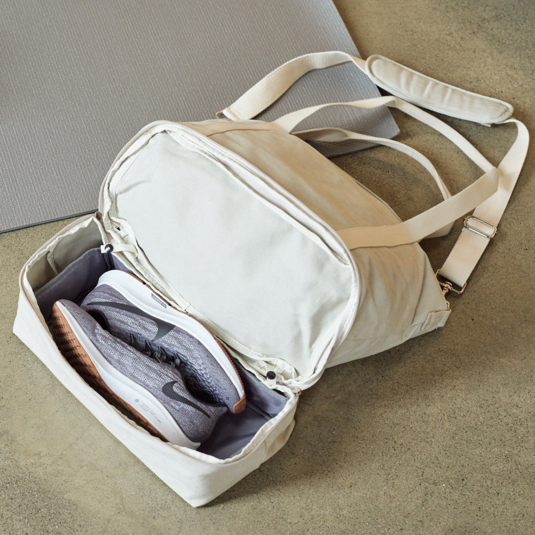 The Catalina Deluxe Tote - Washed Canvas - Dove Grey