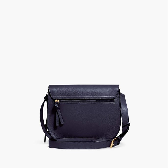 Back - Claremont - Full Grain Leather - Deep Navy - Crossbody Bag - Lo & Sons