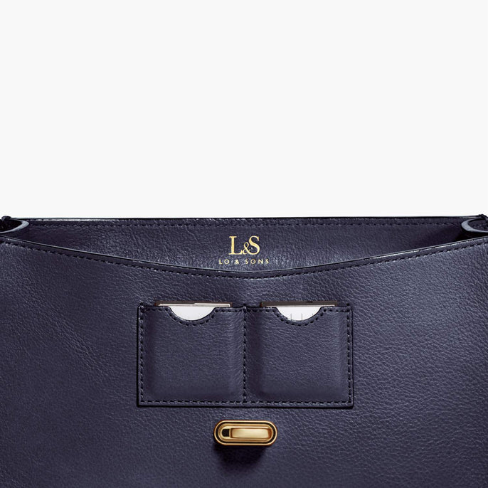 Card Slot - Claremont - Full Grain Leather - Deep Navy - Crossbody Bag - Lo & Sons