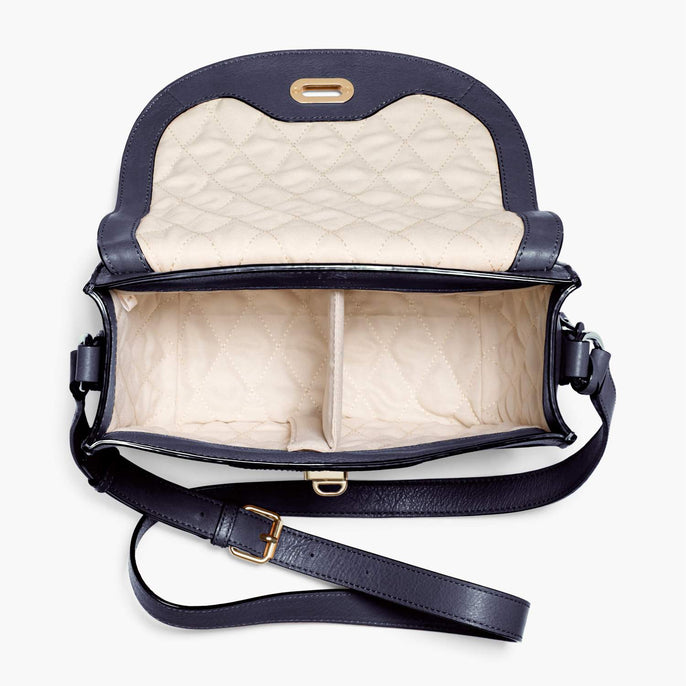 Interior Empty - Claremont - Full Grain Leather - Deep Navy - Crossbody Bag - Lo & Sons