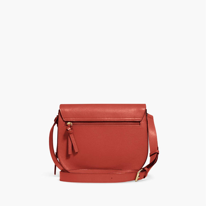 Back - Claremont - Full Grain Leather - Santa Fe Red - Crossbody Bag - Lo & Sons