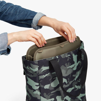 Removable Insert - Edgemont - 600D Recycled Poly - Green Camo - Backpack - Lo & Sons