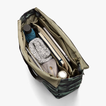 Interior Full - Edgemont - 600D Recycled Poly - Green Camo - Backpack - Lo & Sons