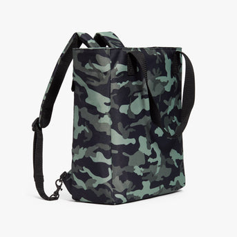 Side Backpack - Edgemont - 600D Recycled Poly - Green Camo - Backpack - Lo & Sons