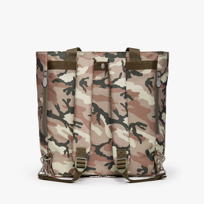 Back Backpack - Edgemont - 600D Recycled Poly - Tan Camo - Backpack - Lo & Sons
