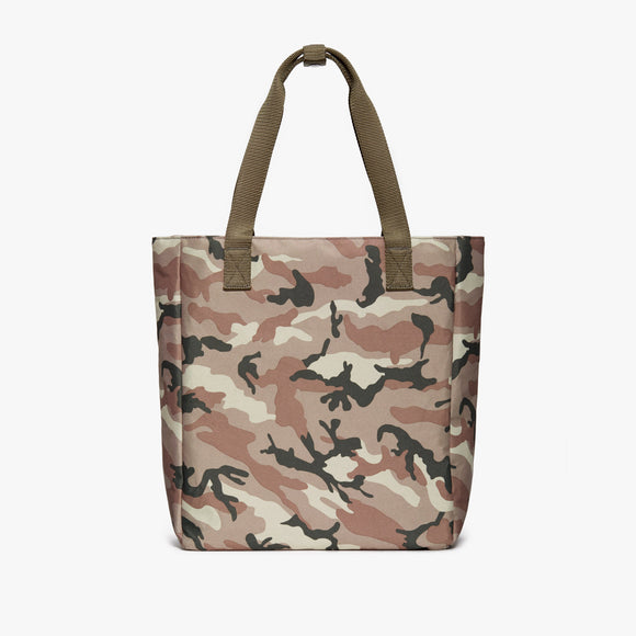 Front Tote - Edgemont - 600D Recycled Poly - Tan Camo - Backpack - Lo & Sons