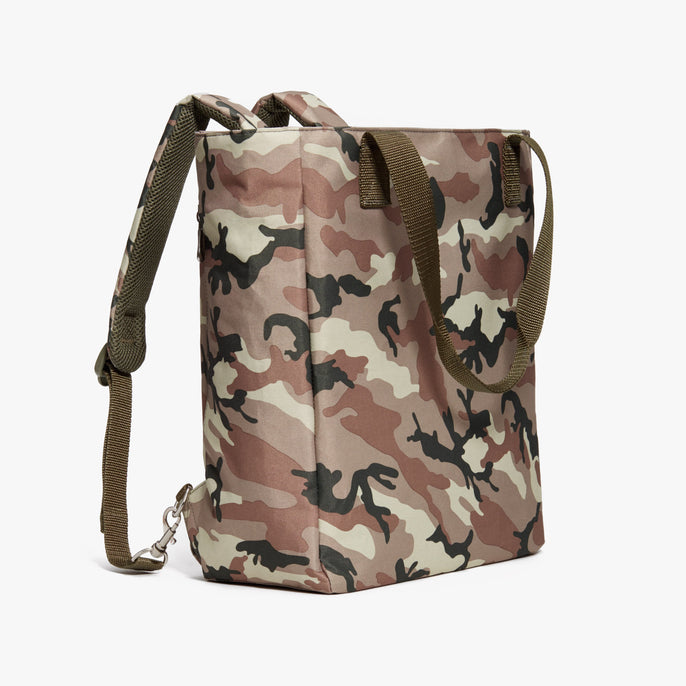 Side Backpack - Edgemont - 600D Recycled Poly - Tan Camo - Backpack - Lo & Sons