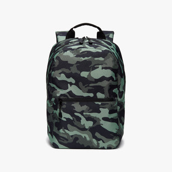 Front - Hanover 2 - 600D Recycled Poly - Green Camo - Backpack - Lo & Sons