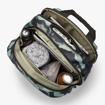 Interior Full - Hanover 2 - 600D Recycled Poly - Green Camo - Backpack - Lo & Sons