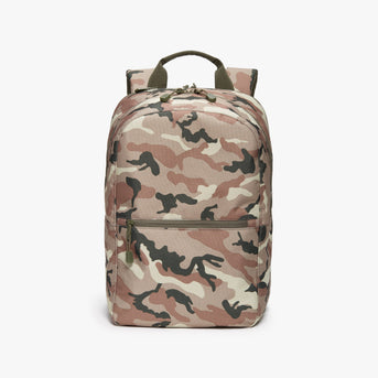 Front - Hanover 2 - 600D Recycled Poly - Tan Camo - Backpack - Lo & Sons