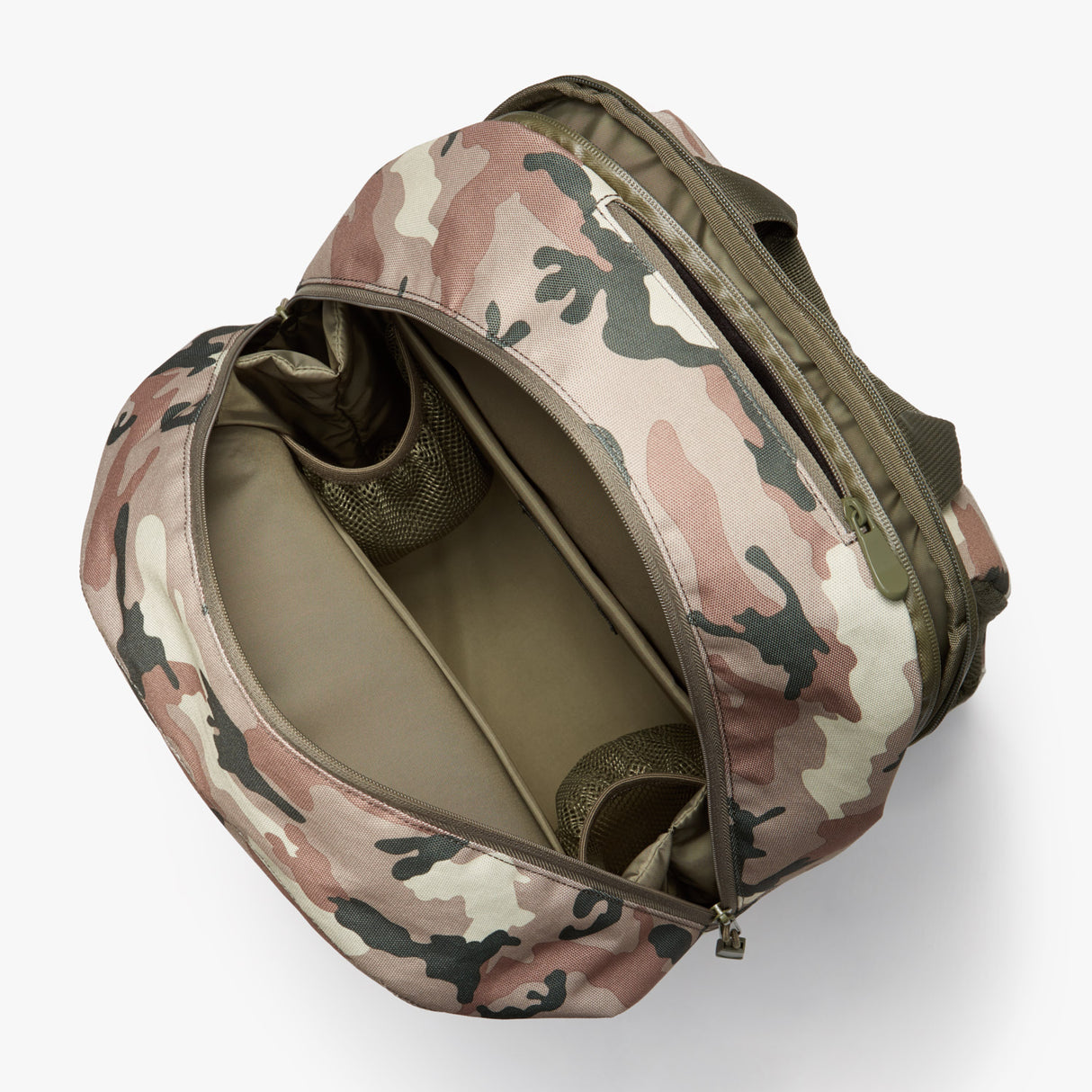 Interior Empty - Hanover 2 - 600D Recycled Poly - Tan Camo - Backpack - Lo & Sons