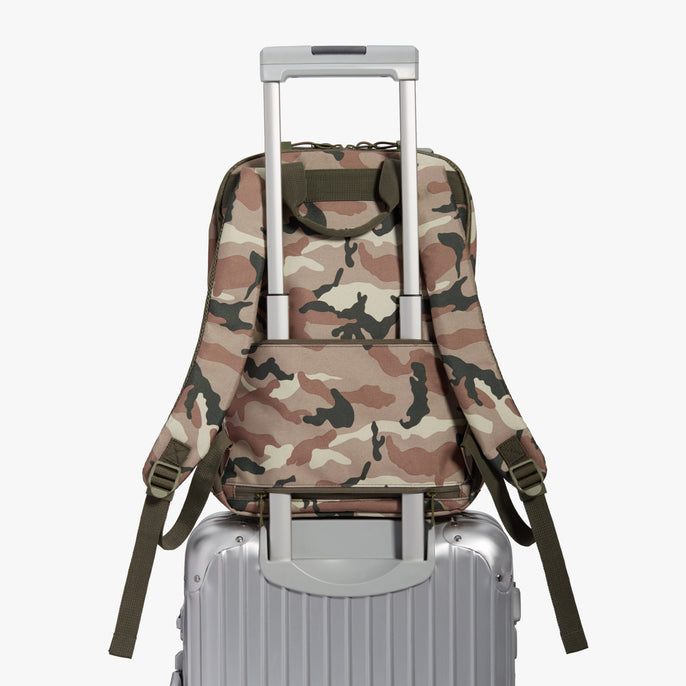 Luggage Backpack - Hanover 2 - 600D Recycled Poly - Tan Camo - Backpack - Lo & Sons