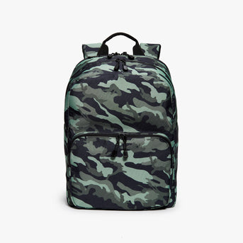 Front - Hanover Deluxe 2 - 600D Recycled Poly - Green Camo - Backpack - Lo & Sons