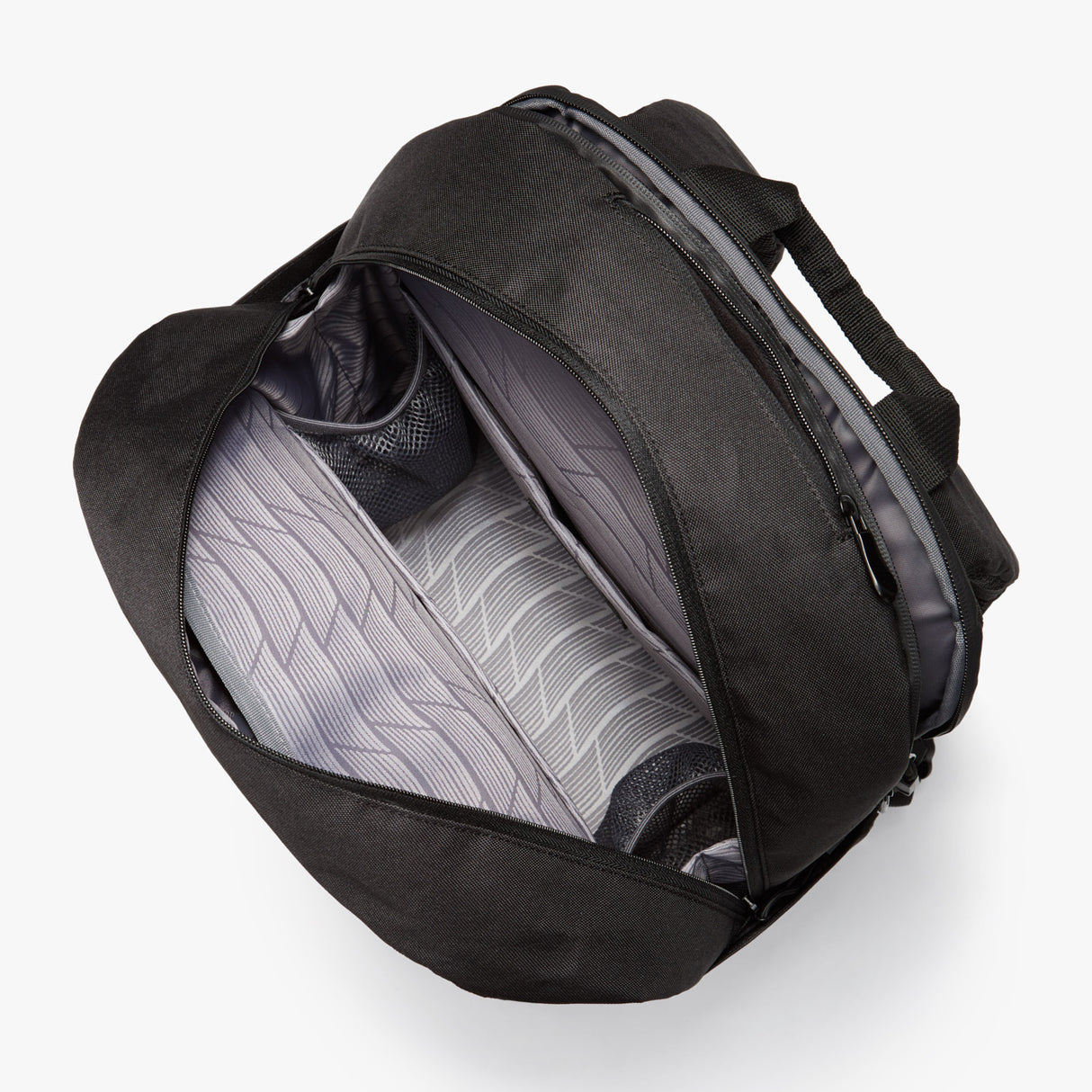 Interior Empty - Hanover Deluxe 2 - 600D Recycled Poly - Onyx - Backpack - Lo & Sons
