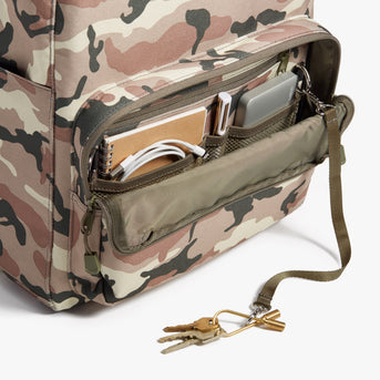 Front Pocket - Hanover Deluxe 2 - 600D Recycled Poly - Tan Camo - Backpack - Lo & Sons