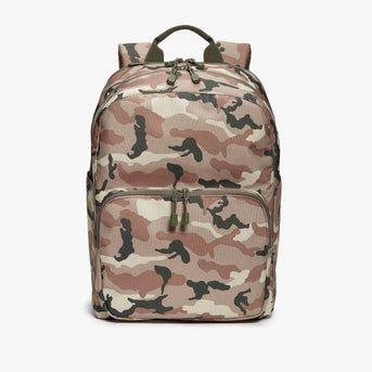 Front - Hanover Deluxe 2 - 600D Recycled Poly - Tan Camo - Backpack - Lo & Sons