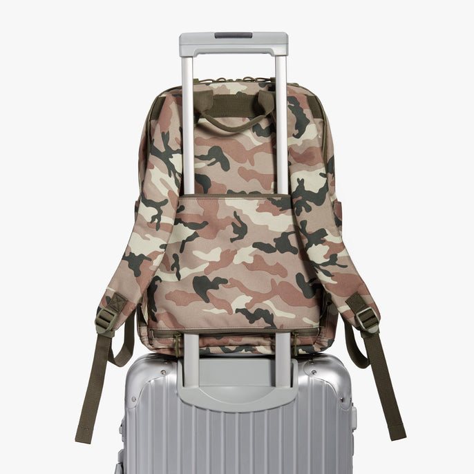 Luggage Backpack - Hanover Deluxe 2 - 600D Recycled Poly - Tan Camo - Backpack - Lo & Sons