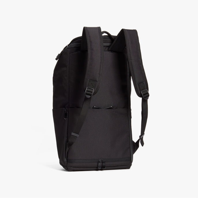 Back - The Hakuba - 600D Recycled Poly - Onyx / Black / Grey Wave - Backpack - Lo & Sons