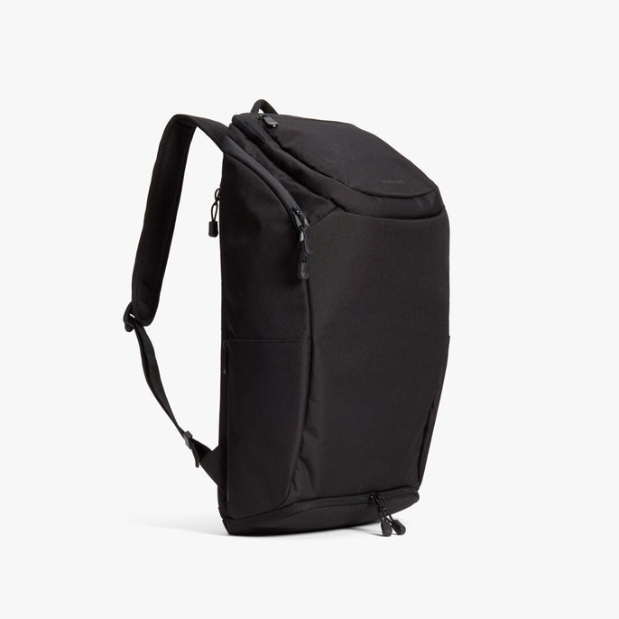 Side - The Hakuba - 600D Recycled Poly - Onyx / Black / Grey Wave - Backpack - Lo & Sons