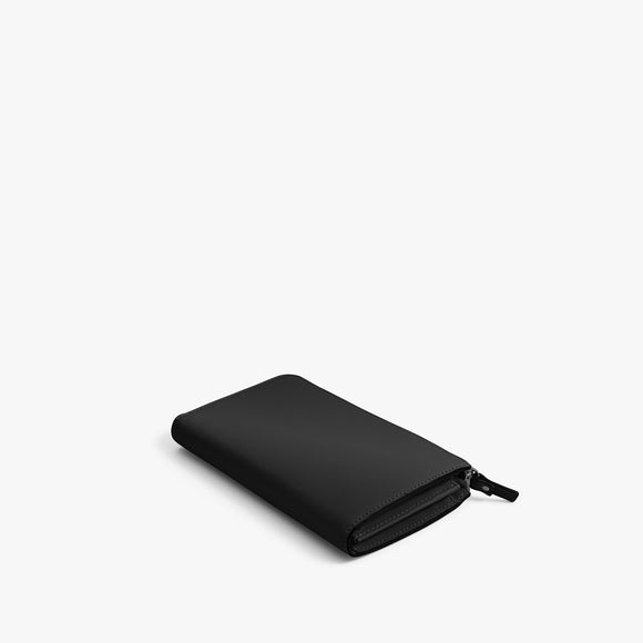 Back - Leather Wallet - Nappa Leather - Black / Gunmetal / Grey - Small Accessory - Lo & Sons