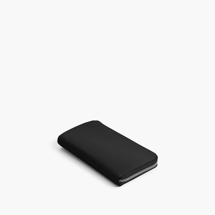 Front - Leather Wallet - Nappa Leather - Black / Silver / Grey - Small Accessory - Lo & Sons
