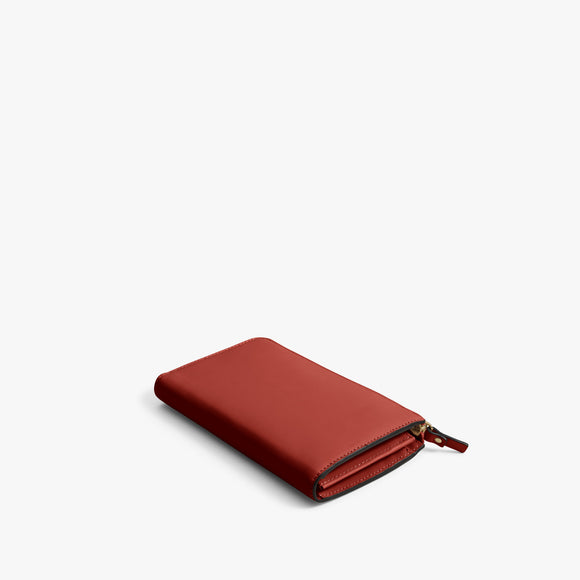 Back - Leather Wallet - Nappa Leather - Santa Fe Red / Gold / Camel - Small Accessory - Lo & Sons
