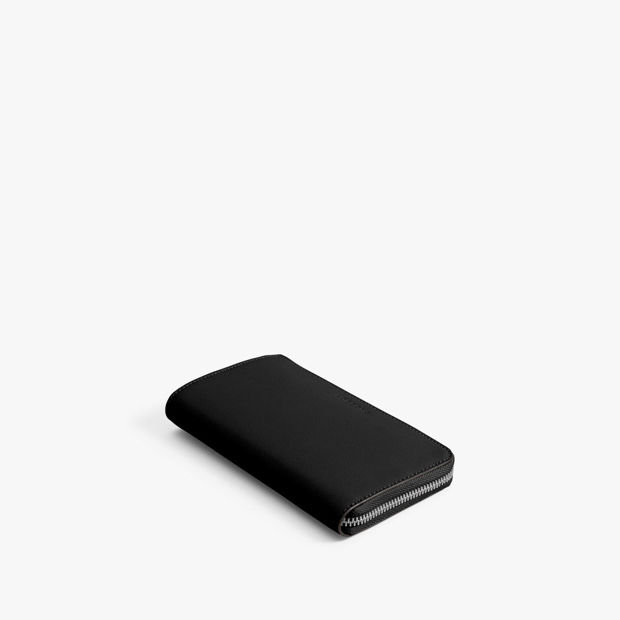 Front - Leather Wallet - Saffiano Leather - Black / Silver / Grey - Small Accessory - Lo & Sons