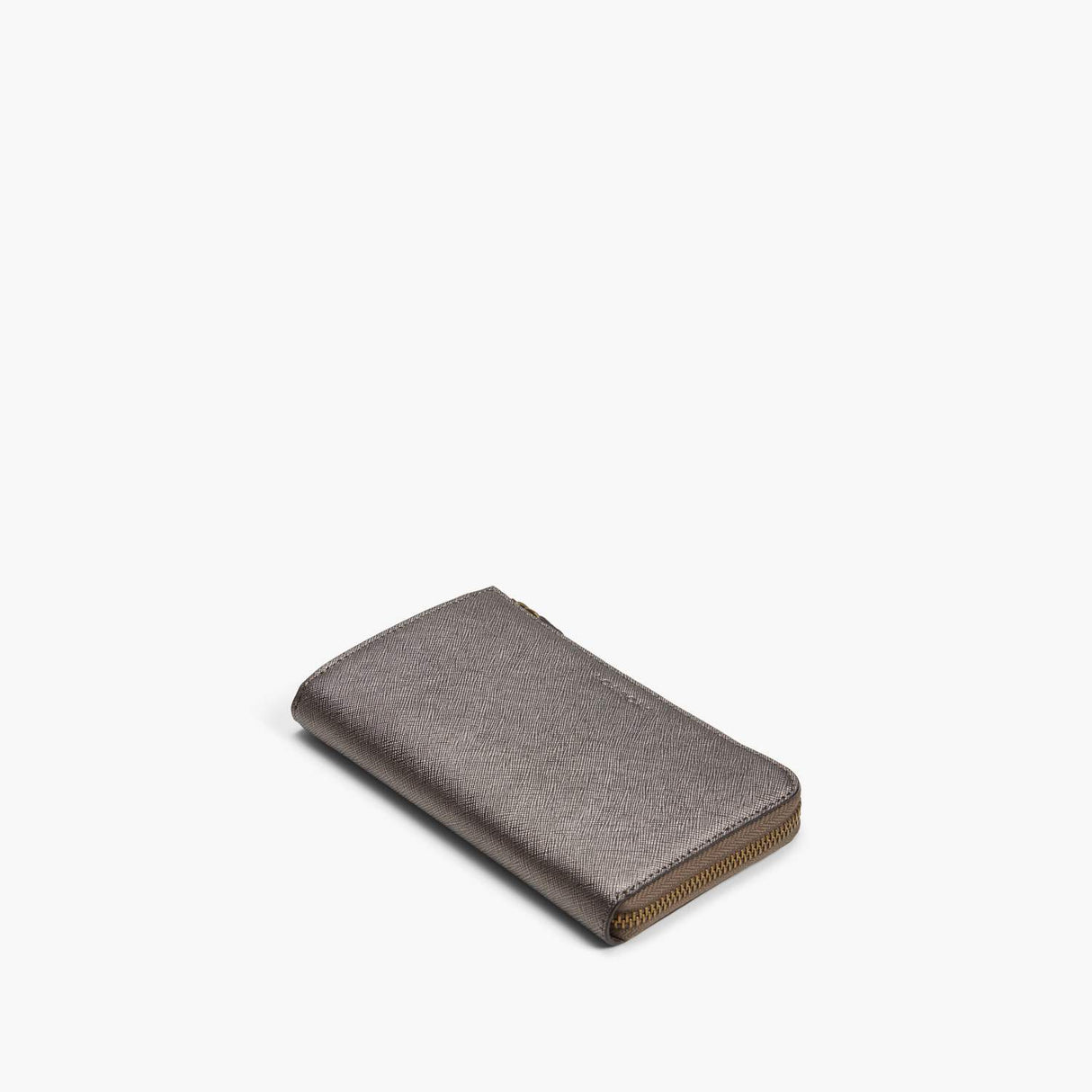 Front - Leather Wallet - Saffiano Leather - Graphite / Brass / Grey - Small Accessory - Lo & Sons