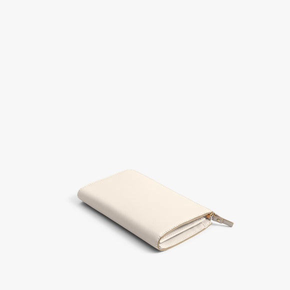 Back - The Leather Wallet - Saffiano Leather - Ivory / Gold / Camel - Small Accessory - Lo & Sons