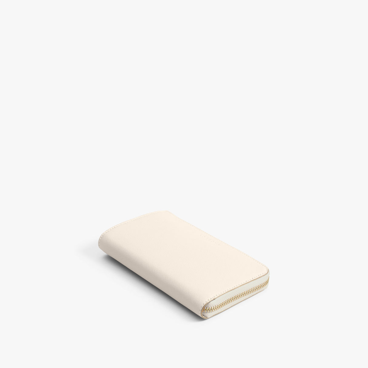 Front - The Leather Wallet - Saffiano Leather - Ivory / Gold / Camel - Small Accessory - Lo & Sons
