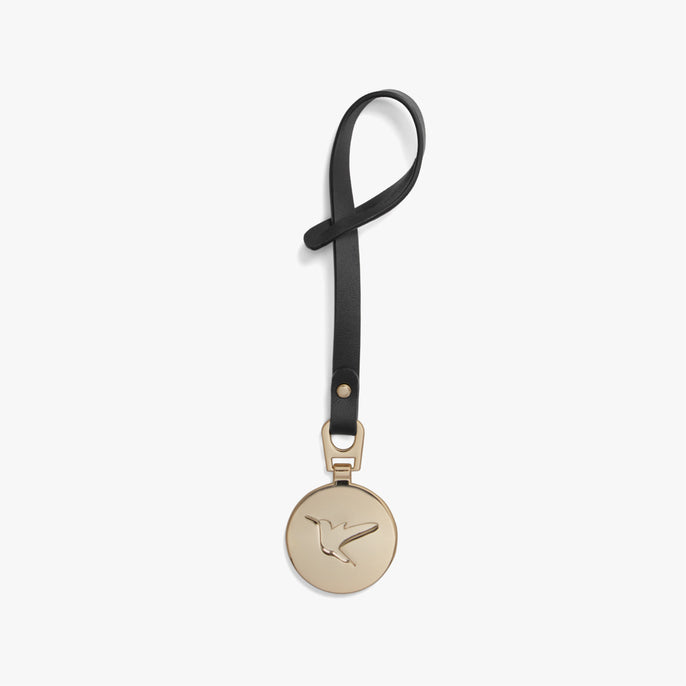 Back - L&S Medallion - Nappa Leather - Black / Gold - Small Accessory - Lo & Sons