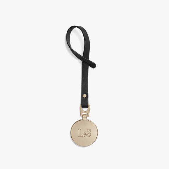 Front - L&S Medallion - Nappa Leather - Black / Gold - Small Accessory - Lo & Sons
