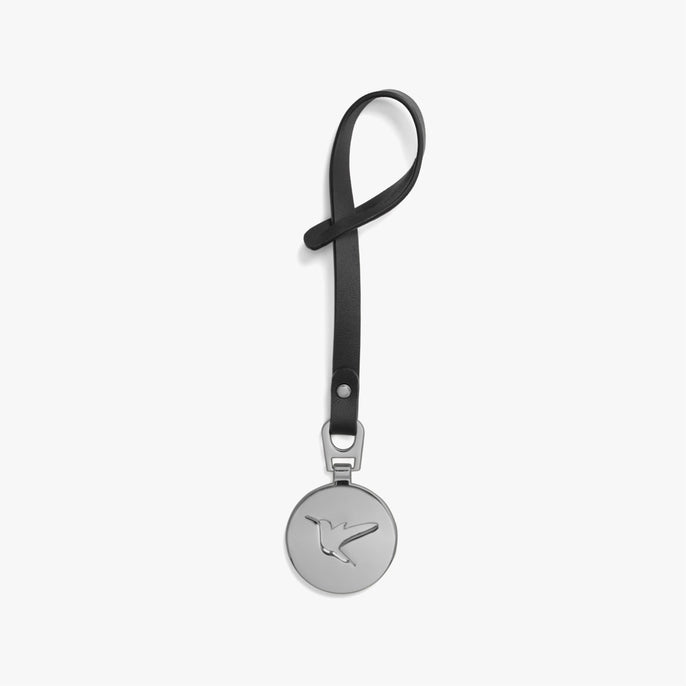 Back - L&S Medallion - Nappa Leather - Black / Silver - Small Accessory - Lo & Sons