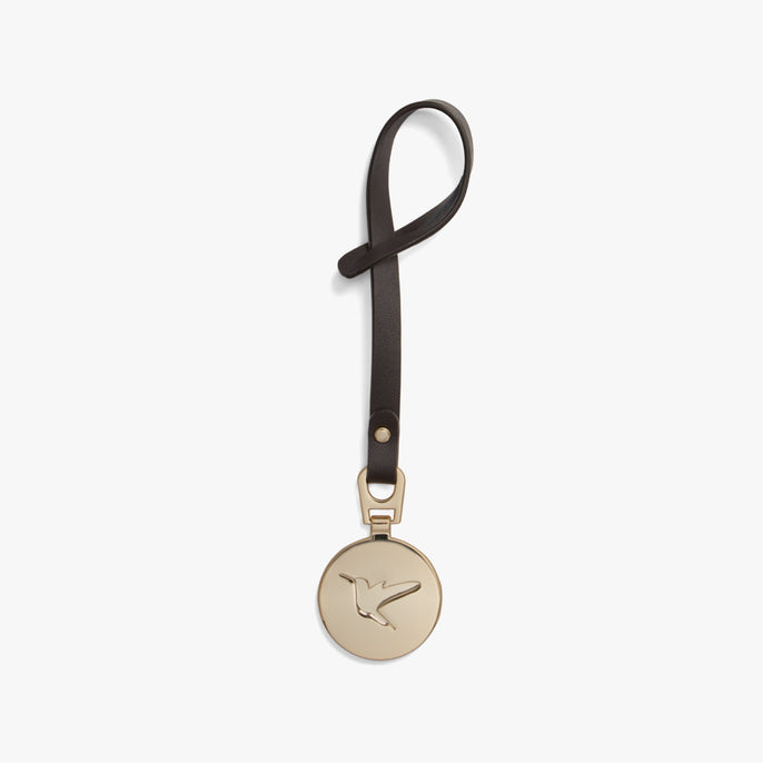 Back - L&S Medallion - Nappa Leather - Brown / Gold - Small Accessory - Lo & Sons