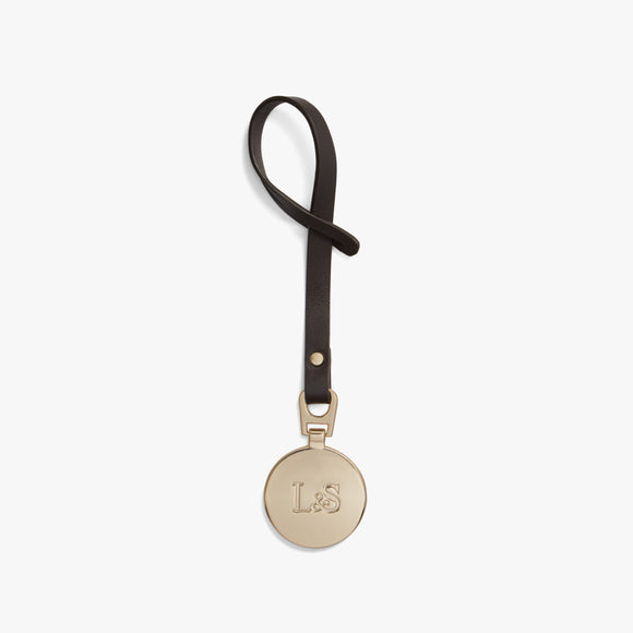 Front - L&S Medallion - Nappa Leather - Brown / Gold - Small Accessory - Lo & Sons