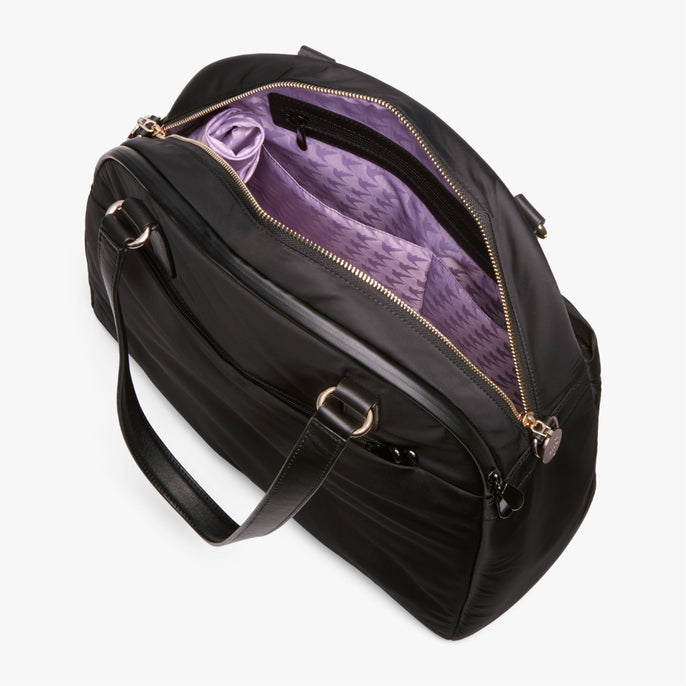 Interior Empty Side A - O.G. 2 - Nylon - Black / Gold / Lavender - Shoulder Bag - Lo & Sons