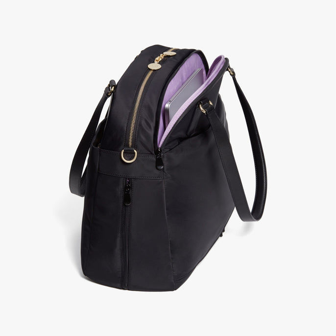 Laptop - O.G. 2 - Nylon - Black / Gold / Lavender - Shoulder Bag - Lo & Sons