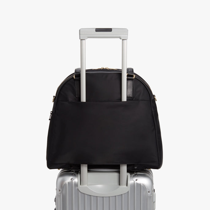 Luggage - O.G. 2 - Nylon - Black / Gold / Lavender - Shoulder Bag - Lo & Sons