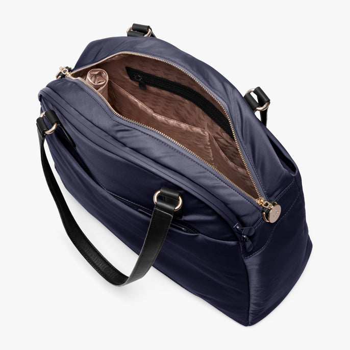 Interior Empty Side A - O.G. 2 - Nylon - Deep Navy / Gold / Camel - Shoulder Bag - Lo & Sons