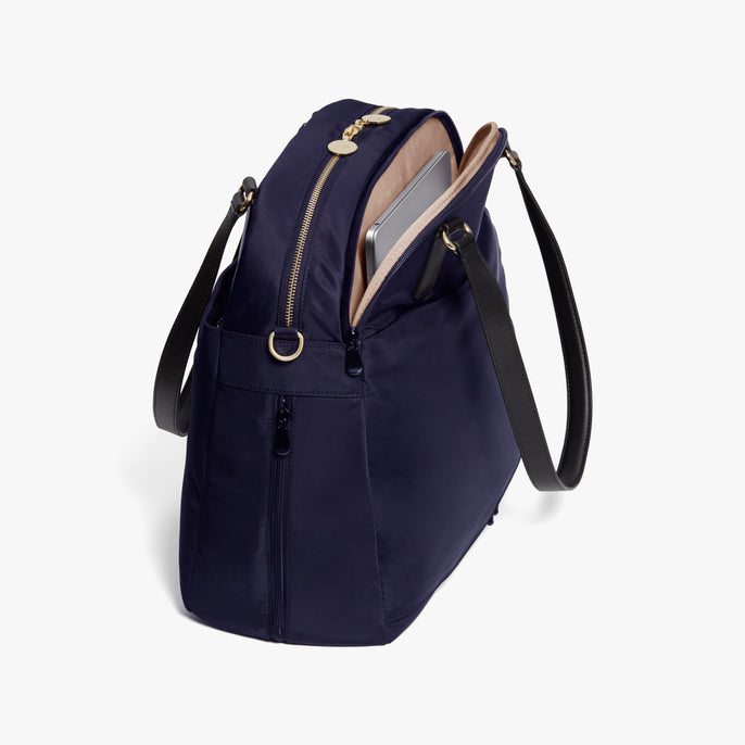 Laptop - O.G. 2 - Nylon - Deep Navy / Gold / Camel - Shoulder Bag - Lo & Sons