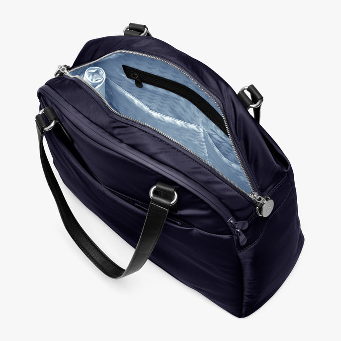 Interior Empty Side A - O.G. 2 - Nylon - Deep Navy / Silver / Azure - Shoulder Bag - Lo & Sons
