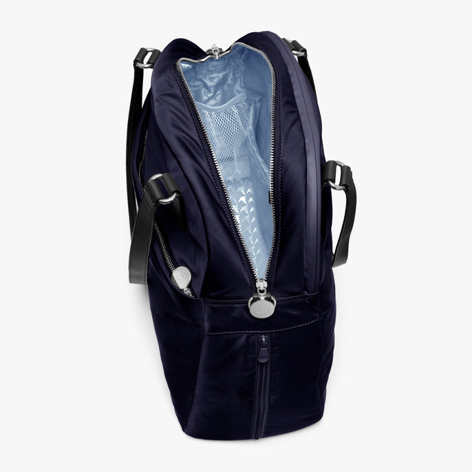 Interior Empty Side B - O.G. 2 - Nylon - Deep Navy / Silver / Azure - Shoulder Bag - Lo & Sons