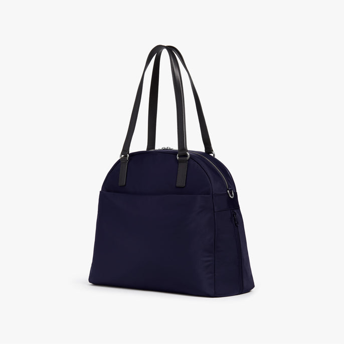 Side - O.G. 2 - Nylon - Deep Navy / Silver / Azure - Shoulder Bag - Lo & Sons