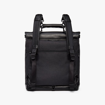 Back Backpack - Prospect - 1200D Recycled Poly - Black / Black / Grey Wave - Backpack - Lo & Sons
