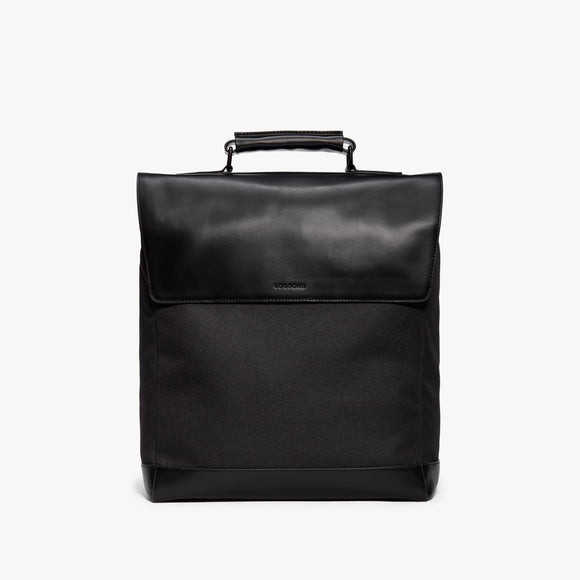 Front Briefcase - Prospect - 1200D Recycled Poly - Black / Black / Grey Wave - Backpack - Lo & Sons