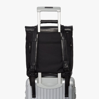 Luggage Backpack - Prospect - 1200D Recycled Poly - Black / Black / Grey Wave - Backpack - Lo & Sons
