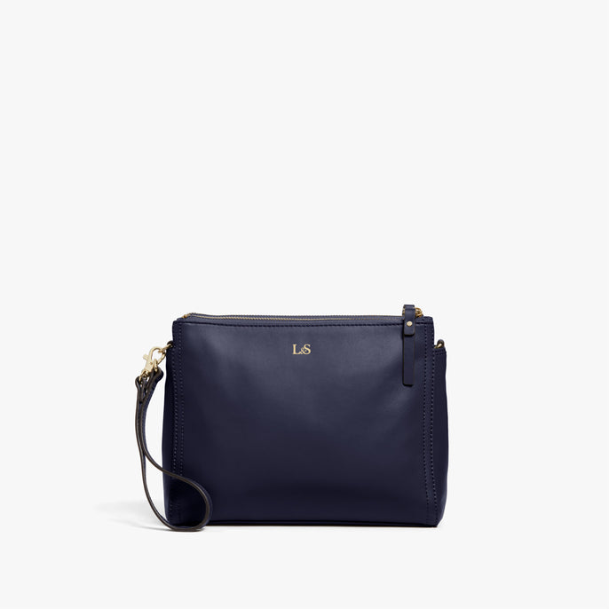 Short Strap - Pearl - Nappa Leather - Deep Navy / Gold / Camel - Crossbody Bag - Lo & Sons