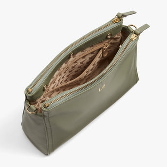 Interior Empty - Pearl - Nappa Leather - Sage Green / Gold / Camel - Crossbody Bag - Lo & Sons